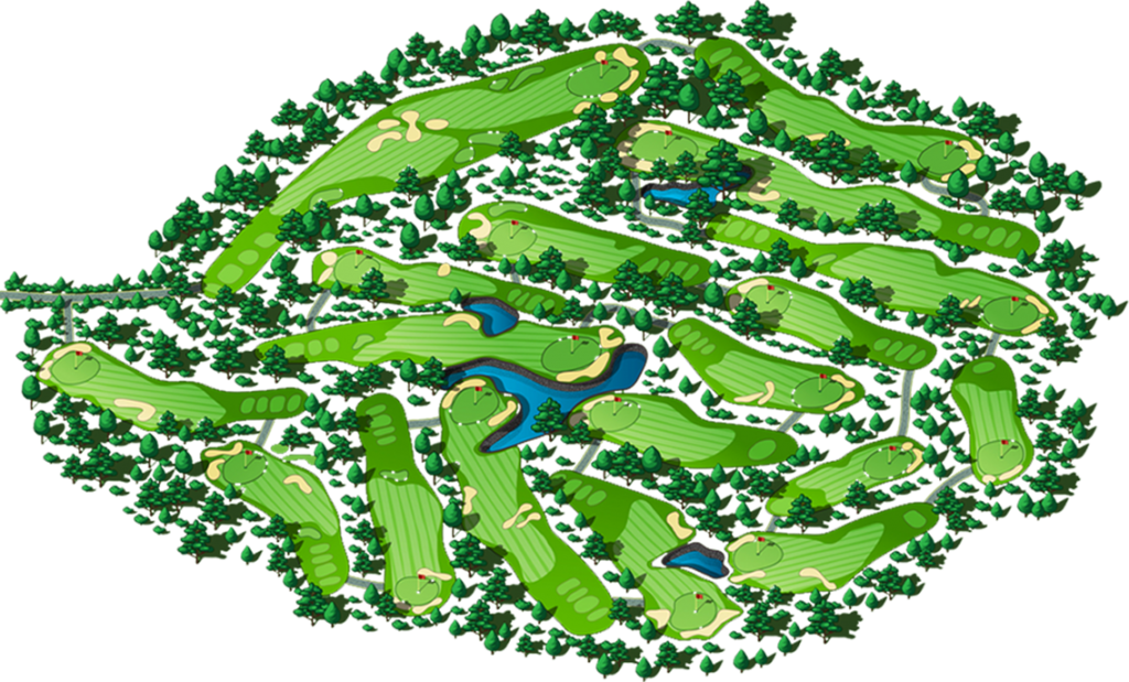 Chi Linh Golf Course - Course map